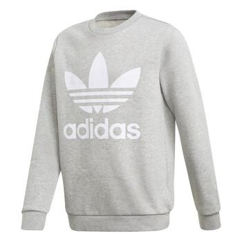 textil Dreng Sweatshirts adidas Originals TREFOIL CREW Grå
