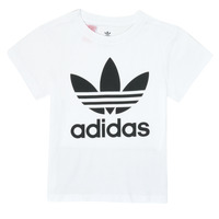 textil Børn T-shirts m. korte ærmer adidas Originals TREFOIL TEE Hvid