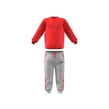 textil Børn Sæt adidas Performance MH LOG JOG FL Rød / Grå