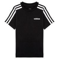 textil Dreng T-shirts m. korte ærmer adidas Performance YB E 3S TEE Sort