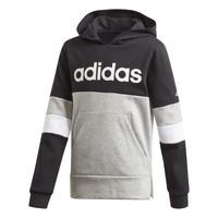 textil Dreng Sweatshirts adidas Performance YB LIN CB HD FL Sort / Grå
