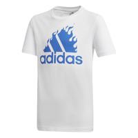 textil Dreng T-shirts m. korte ærmer adidas Performance JB BOS GRAPH Hvid