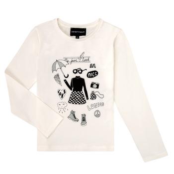 textil Pige Langærmede T-shirts Emporio Armani 6H3T01-3J2IZ-0101 Hvid