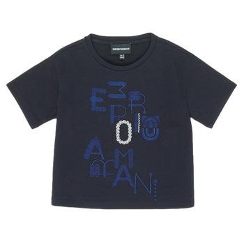 textil Pige T-shirts m. korte ærmer Emporio Armani 6H3T7R-2J4CZ-0926 Marineblå