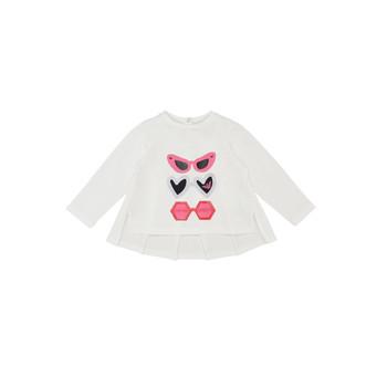 textil Pige Langærmede T-shirts Emporio Armani 6HEM01-3J2IZ-0101 Hvid