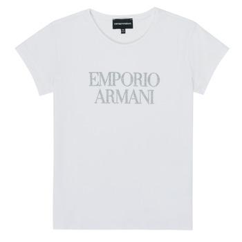textil Pige T-shirts m. korte ærmer Emporio Armani 8N3T03-3J08Z-0100 Hvid
