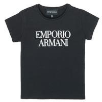 textil Pige T-shirts m. korte ærmer Emporio Armani 8N3T03-3J08Z-0999 Sort