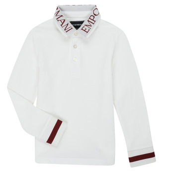 textil Dreng Polo-t-shirts m. lange ærmer Emporio Armani 6H4FJ4-1J0SZ-0101 Hvid