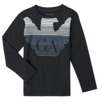 textil Dreng Langærmede T-shirts Emporio Armani 6H4T17-1J00Z-0999 Sort
