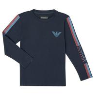 textil Dreng Langærmede T-shirts Emporio Armani 6H4TJD-1J00Z-0920 Marineblå