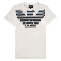 textil Dreng T-shirts m. korte ærmer Emporio Armani 6H4TQ7-1J00Z-0101 Hvid