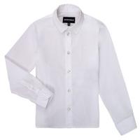 textil Dreng Skjorter m. lange ærmer Emporio Armani 8N4CJ0-1N06Z-0100 Hvid