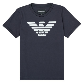 textil Dreng T-shirts m. korte ærmer Emporio Armani 8N4T99-1JNQZ-0939 Marineblå