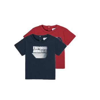 textil Dreng T-shirts m. korte ærmer Emporio Armani 6HHD22-4J09Z-0353 Flerfarvet