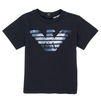 textil Dreng T-shirts m. korte ærmer Emporio Armani 6HHTA9-1JDXZ-0920 Marineblå