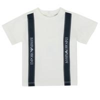 textil Dreng T-shirts m. korte ærmer Emporio Armani 6HHTG4-1JTUZ-0101 Hvid