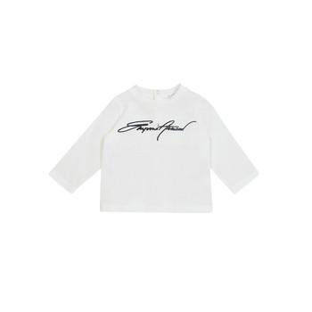 textil Dreng Langærmede T-shirts Emporio Armani 6HHTJN-1JTUZ-0101 Hvid