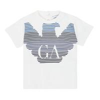textil Dreng T-shirts m. korte ærmer Emporio Armani 6HHTQ7-1J00Z-0101 Hvid