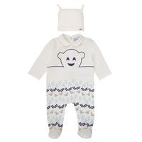 textil Dreng Pyjamas / Natskjorte Emporio Armani 6HHV08-4J3IZ-0101 Hvid / Blå