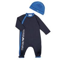 textil Dreng Pyjamas / Natskjorte Emporio Armani 6HHV12-4J3CZ-0922 Marineblå