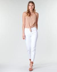textil Dame Lærredsbukser Only ONLEMILY Hvid