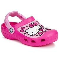 Sko Pige Træsko Crocs HELLO KITTY CANDY RIBBONS CLOG Pink