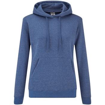 textil Dame Sweatshirts Fruit Of The Loom 62038 Heather Royal