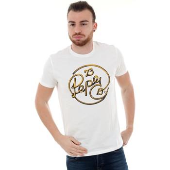 T-shirts m. korte ærmer Pepe jeans  PM507135 MEIDINGER RO - 803 OFF WHITE