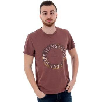 T-shirts m. korte ærmer Pepe jeans  PM506833 RYTON - 299 BURGUNDY