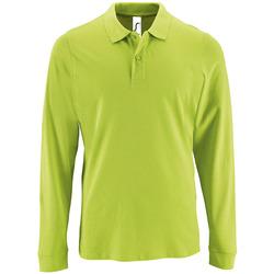 textil Herre Polo-t-shirts m. lange ærmer Sols PERFECT LSL COLORS MEN Verde