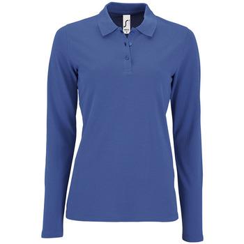 textil Dame Polo-t-shirts m. lange ærmer Sols PERFECT LSL COLORS WOMEN Azul