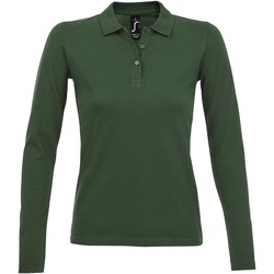 textil Dame Polo-t-shirts m. lange ærmer Sols PERFECT LSL COLORS WOMEN Verde