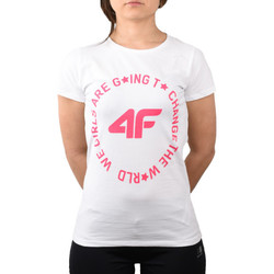 textil Børn t-shirts & poloer 4F Girl's T-shirt HJL20-JTSD013A-10S