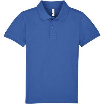 textil Børn Polo-t-shirts m. korte ærmer Sols PERFECT KIDS COLORS Azul