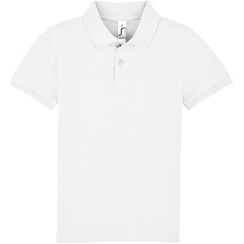 textil Børn Polo-t-shirts m. korte ærmer Sols PERFECT KIDS COLORS Blanco