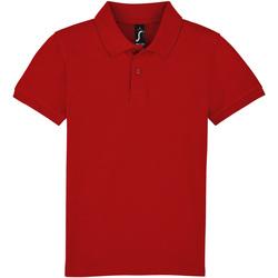 textil Børn Polo-t-shirts m. korte ærmer Sols PERFECT KIDS COLORS Rojo