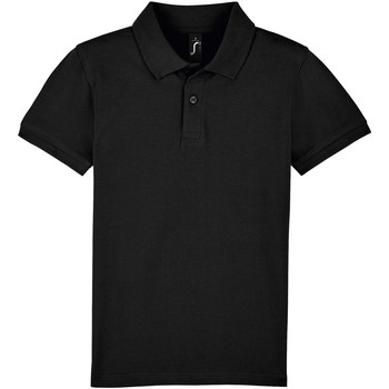 textil Børn Polo-t-shirts m. korte ærmer Sols PERFECT KIDS COLORS Negro
