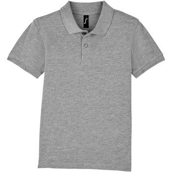 textil Børn Polo-t-shirts m. korte ærmer Sols PERFECT KIDS COLORS Gris