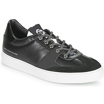 Sko Herre Lave sneakers John Galliano 3565 Sort