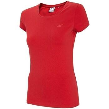 textil Dame T-shirts m. korte ærmer 4F TSD001 Rød
