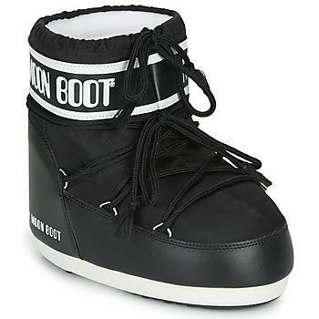Sko Dame Vinterstøvler Moon Boot MOON BOOT CLASSIC LOW 2 Sort