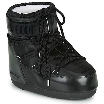 Sko Dame Vinterstøvler Moon Boot MOON BOOT CLASSIC LOW GLANCE Sort
