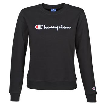textil Dame Sweatshirts Champion HEAVY COMBED COTTON FLEECE Sort