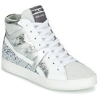 Sko Dame Høje sneakers Meline IN1363 Hvid / Sølv