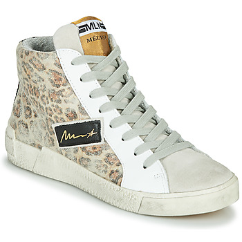 Sko Dame Høje sneakers Meline NK5050 Beige / Leopard