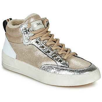Sko Dame Høje sneakers Meline STRA5056 Beige / Guld