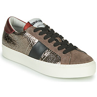 Sko Dame Lave sneakers Meline PL1810 Bronze / Rød