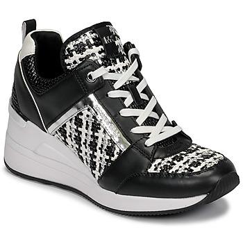Sko Dame Lave sneakers MICHAEL Michael Kors GEORGIE TRAINER Sort / Hvid