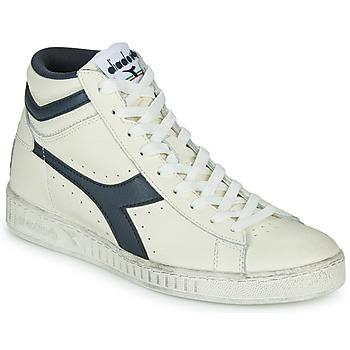 Sko Høje sneakers Diadora GAME L HIGH WAXED Hvid / Blå