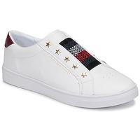Sko Dame Lave sneakers Tommy Hilfiger TOMMY HILFIGER ELASTIC SLIP ON Hvid